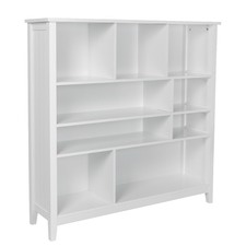 White Glacier Multi Functional Bookcase