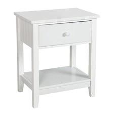 White Glacier Bedside Cabinet