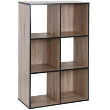 Black Trim Benson 6 Shelf Organiser