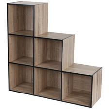 Black Trim Benson Steps Shelf Organiser