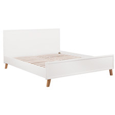 White Arctic Queen Bed Frame