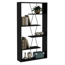 Damia Industrial-Style Bookcase