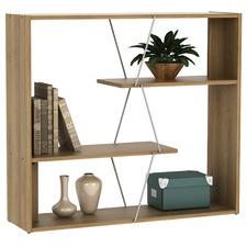 Natural Damia 3 Tier Bookcase