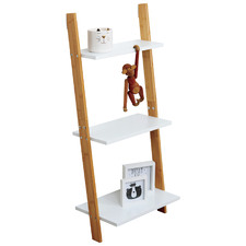 Lizzie 3 Tier Leaning Bamboo Shelf