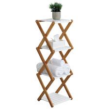 Lizzie 4 Tier Folding Bamboo Shelf