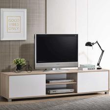 Natural & White Adler TV Unit