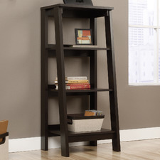 Dark Brown Trestle 3 Tier Bookshelf