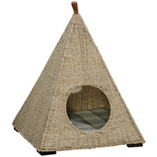 Natural Pyramid Seagrass Cat Bed