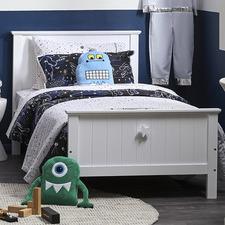 White Kodu Single Bed Frame