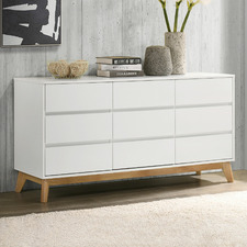 White Anderson 9 Drawer Chest