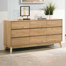 Natural Anderson 9 Drawer Chest