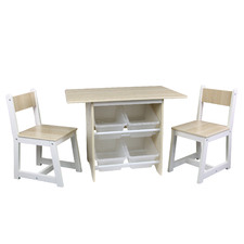 3 Piece Kids' Scandinavian Style Table & Chairs Set