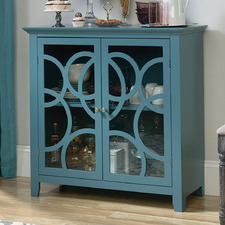 Moody Blue Shoal Creek Elise Display Cabinet