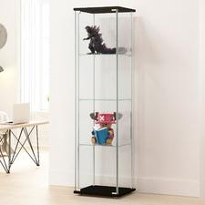 Waldo 4 Shelf Glass Display Cabinet