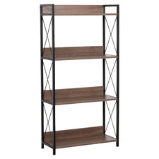 Natural & Black Chelsea 4 Tier Shelf