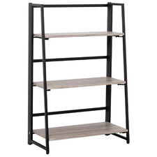 Grey & Black Kirby 3 Tier Ladder Shelf