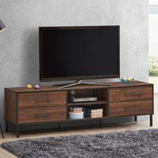 Walnut Harris 4 Drawer Entertainment Unit