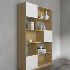 Natural & White Moore Wide Bookcase
