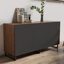 Walnut & Grey 3 Door Johnson Sideboard