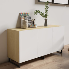 Natural & White 3 Door Moore Sideboard