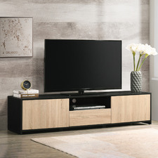 Black Lee Entertainment Unit with Drawer