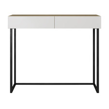 Natural & White Moore Console Table
