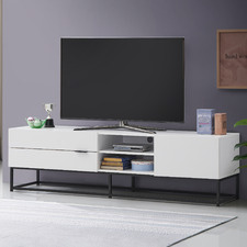 White Jeremy Large Entertainment Unit