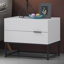 White Jeremy Bedside Table