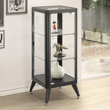 Black Alister 3 Tier Display Cabinet