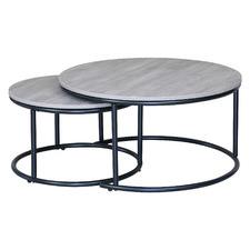 2 Piece Grey Dimitri Nesting Coffee Table Set