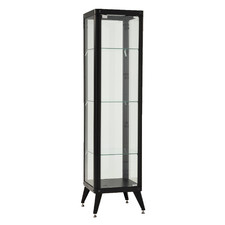 Black Alister 4 Tier Display Cabinet