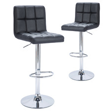 Blundell Faux Leather Adjustable Barstools (Set of 2)