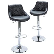 Brendan Faux Leather Adjustable Barstools (Set of 2)
