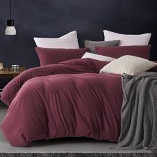 Burgundy Jersey Cotton Quilt Cover Set