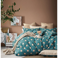 Hugo Reversible Cotton Quilt Cover Set