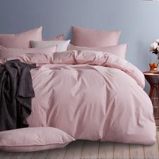 Pink Modern Cotton Corduroy Quilt Cover Set