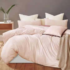 Pink Marble Jersey Cotton Quilt Cover Set