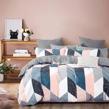 Kay Cotton Reversible Quilt Cover Set