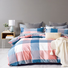 Mei Cotton Reversible Quilt Cover Set