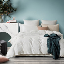 White Vintage Washed Cotton Quilt Cover Set