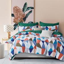 Shell Cotton Reversible Quilt Cover Set