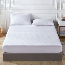 Waterproof Quilted Cotton Mattress Protector