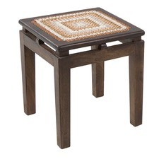 Akron Recycled Wood Side Table