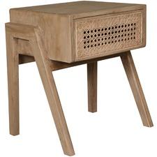 Natural Sevilla 1 Drawer Bedside Table