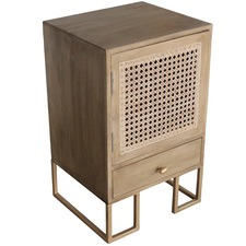 Fawn Sevilla Bedside Table with Cupboard