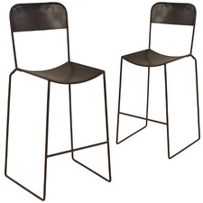 Raphael Metal Counter Stools (Set of 2)