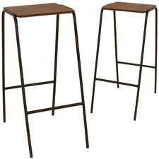 75cm Minimalist Aston Barstools (Set of 2)
