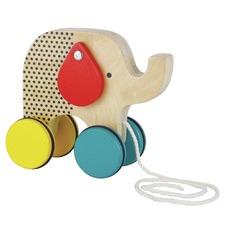 Jumping Jumbo Elephant Wood Pull Toy