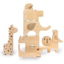 Safari Wood Puzzle & Play Set