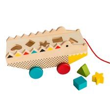 Alligator Wood Shape Sorter & Pull Toy